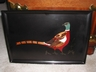 Couroc of Monterey Wood & Bakelite Inlay Pheasant Bird Tray 1960